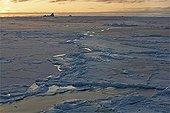 Ice in Baffin Bay Northwest Passage Canada
