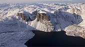 Fjord in Frobisher Bay in Baffin Island Canada
