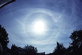 22 ° halo around the Sun Ray France ; An early Parhelic circle is also visible.