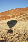 Shadow of Hot-air balloons over the Namib desert  Namibia