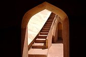 Stairwell of the observatory Jantar Mantar Jaipur India ; Jantar Mantar. The maharaja Jai Singh II decided to built this astronomical observatory (1728-1733) with giants instruments in order to change the calendar.