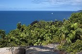 Landscape of the island of Mahe in the Seychelles