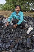 Making charcoal in Cambodia