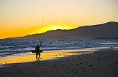 Kite Surfing on the beach of Los Lances Detroit NP Spain
