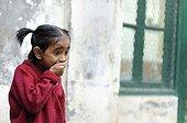 Schoolgirl of the Tomorrow Foundation Calcutta India ; The Tomorrow Foundation is an Indian NGO that assist underprivileged children in Calcutta by allowing them access to education.