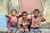 Schoolboys from the Tomorrow Foundation Calcutta India ; The Tomorrow Foundation is an Indian NGO that assist underprivileged children in Calcutta by allowing them access to education.