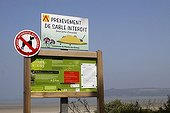 Information panel on green algae in Brittany France