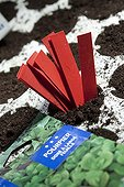 Garden labels for planting and seed package France