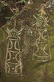 Native American petroglyphs St. Lucia
