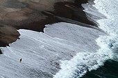 Man on the beach of Porto Corsica France