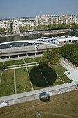 Aerial view of the Parc André Citroën in Paris