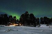 Aurora Borealis Northern Lights, White Sea, Karelia, Russia