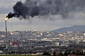 Black smoke from a flare due to a technical accidentFrance