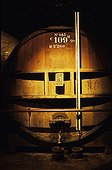Barrels in the cellars of the Grande Chartreuse Voiron France