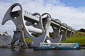 Falkirk Wheel rotating boat lift Scotland UK