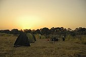 Camp on the banks of the Zambezi River Zambia