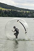 people in Waterball Lake Saint-Point France ;