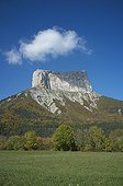 Mont Aiguille in the fall to Chichilianne France