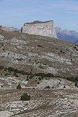 Mont Aiguille in the fall for the Pas de l'Aiguille France