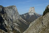 Mont Aiguille in the fall Vercors France