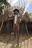 Warrior of Dani Tribe Baliem Valley West Papua Indonesia