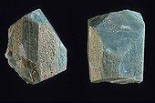 Amazonite originated of Moramanga Madagascar ; Silicates class, subclass tectosilicates series of feldspars. Collection School of Mines.
