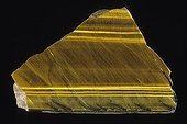 Quartz Tiger's eye from Cape of Good Hope RSA ; Length : 10 cm. Collection School of Mines