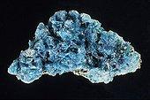 Mélantérite originaire de Salsigne dans l'Aude France ; Longueur : 9 cm. Sous-classe des Sulfates hydratés. Collection École des mines
