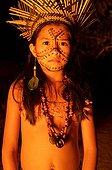 Girl Munduruku Shores Tapajos Brazil