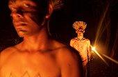 Men Munduruku Shores Tapajos Brazil