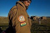 Guard in reserve Apolobomba in Bolivia