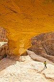 Arche naturelle de Al Harazah Désert de Wadi Rum en Jordanie