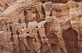 Cliffs in the Wadi Rum desert region in Jordan
