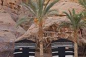 Captain's Camp in the Wadi Rum desert region in Jordan ; Camp for tourism