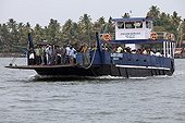 Ferry on a river Cochin Kerala India