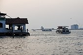 Passenger ferries in the port of Cochin Kerala India