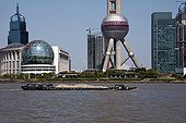 River transport of sand in Shanghai China