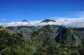 Clouds around the mountains of Salazie Reunion