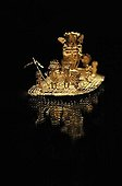 Pre-Columbian goldwork collection, raft, funeral ceremony, Museo del Oro, Bogotá, Colombia, South America