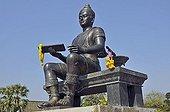 Statue of King Rama I, King of Thailand, Sukhothai, Thailand, Southeast Asia