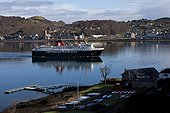 Ferry in the port of Oban Scotland UK