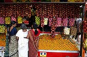 Stall fruit in a market Kerala India