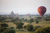 Balloon above the site of Bagan in Burma
