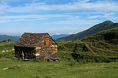 Former home of a shepherd in the Pyrenees mountain pastures France