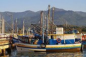 Fishing boats in the harbour of Paraty, Brazil