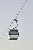 Gondola, single cabin, in the Parque das Nações park, site of the Expo 98, Lisbon, Portugal, Europe
