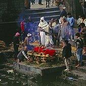 Cremation, Pashupatinath, Kathmandu, Nepal