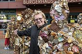Conceptual artist HA Schult and his Trash People, Bergisch Gladbach, North Rhine-Westphalia, Germany, Europe