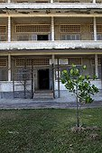 Tuol Sleng museum in Phnom Penh in Cambodia ; The site is a former high school which was used as the notorious Security Prison 21 (S-21) by the Khmer Rouge communist regime from its rise to power in 1975 to its fall in 1979.