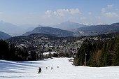 Ski resort 'Les Carroz d'Araches' early springAlps France